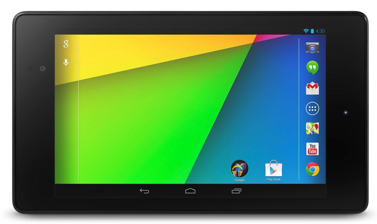 Nuevo Nexus 7 vista frontal apaisada