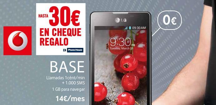 LG Optimus L5 II con Vodafone.