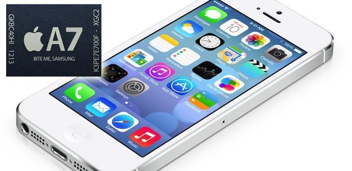 El chip A7 del iPhone 5S será un 31% más rápido que el A6.