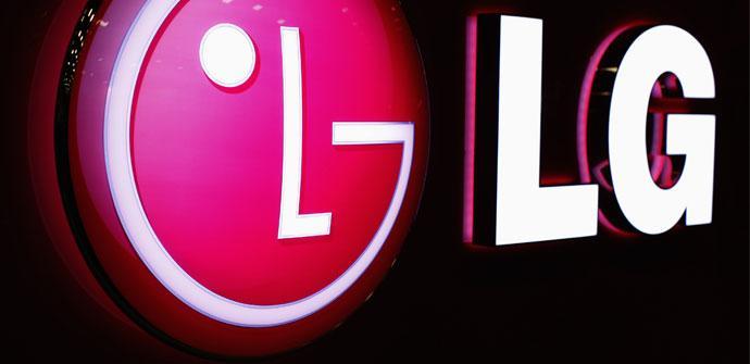 Logo iluminado de LG