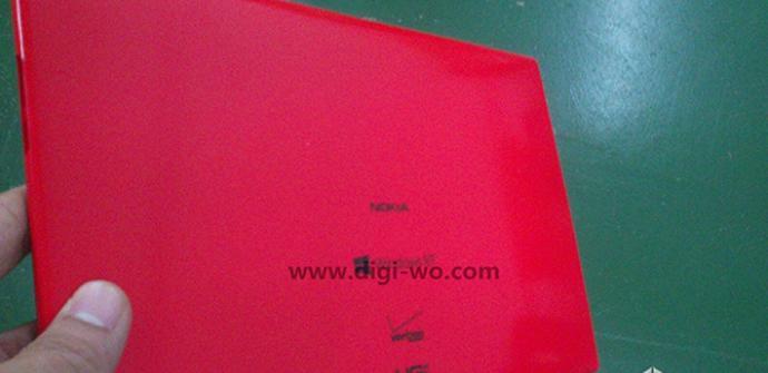 Imagen Nokia tablet con Windows RT en rojo.