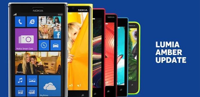 Actualiazacion Nokia Amber para los Nokia Lumia con Windows Phone 8