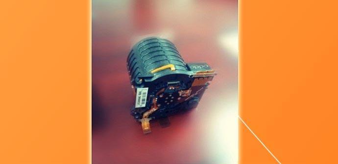 Módulo de cámara del Oppo N1.