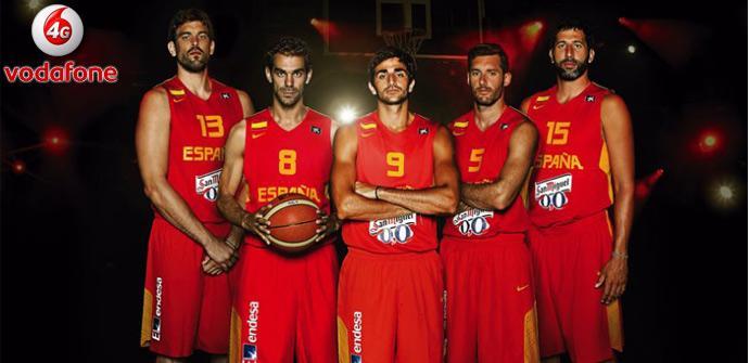 Vodafone 4G con la Seleccion de baloncesto