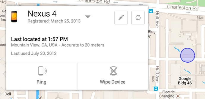 Android Device Manager de Google.