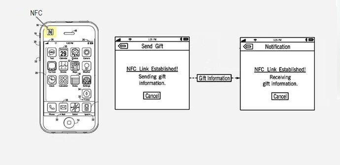 Patente de Apple deja ver NFC en iPhone.