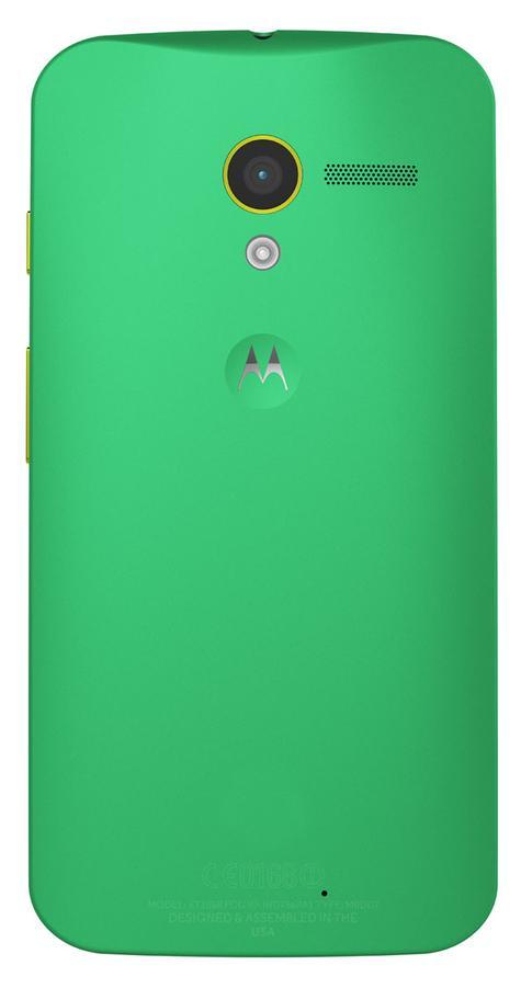 Motorola Moto X de color verde vista trasera