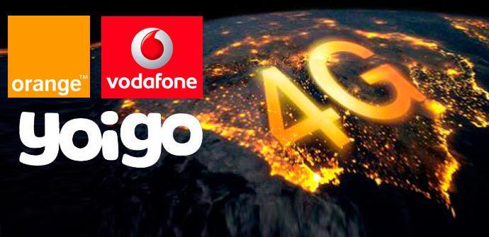 Comparativa de tarifas Orange, Yoigo y Vodafone.