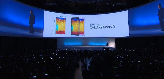 Samsung galaxy Note 3 presentacion