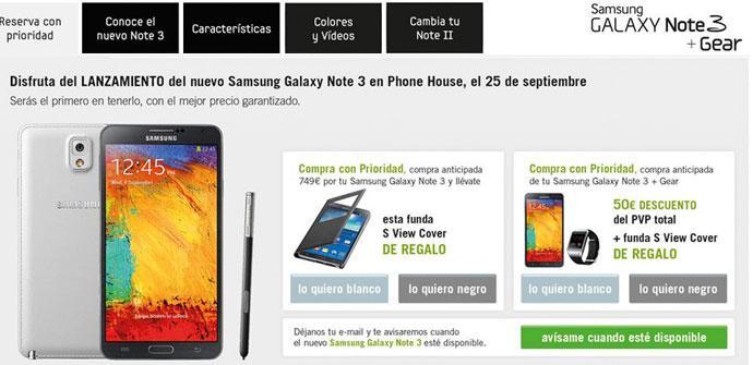 Samsung Galaxy Note 3 en Phone House