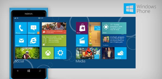 Nokia Lumia con pantallas de Windows Phone
