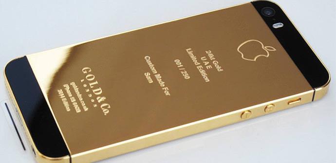 iPhone 5S con un baño de oro