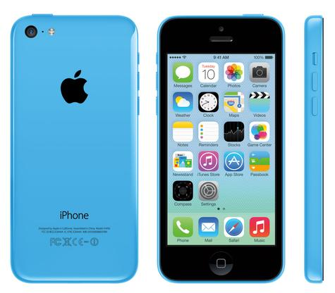 iPhone 5C vista frontal, lateral y trasera