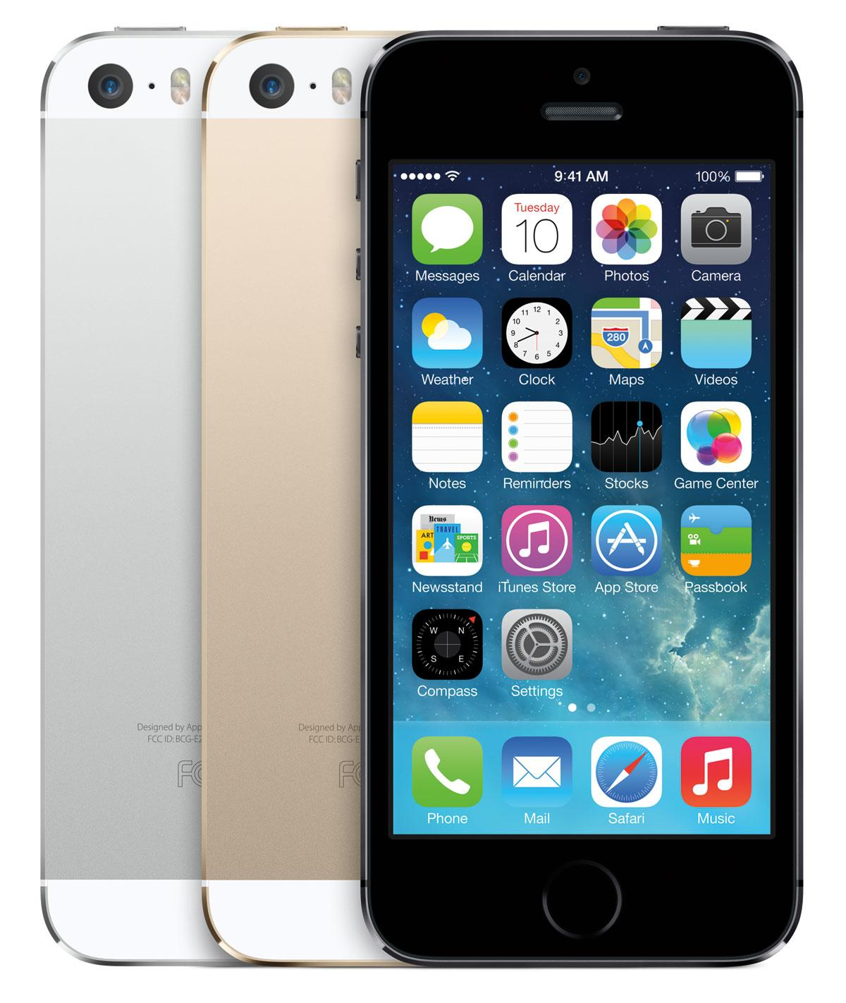 iPhone 5S de color oro vista frontal y trasera