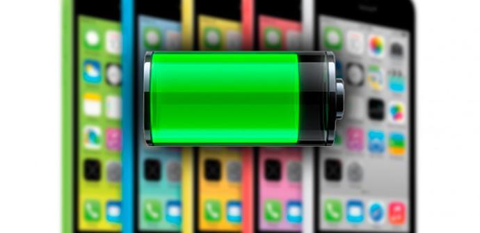 La duración de la batería del iPhone 5C.