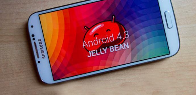 Samsung Galaxy S4 recibirá Andrid 4.3 en octubre.
