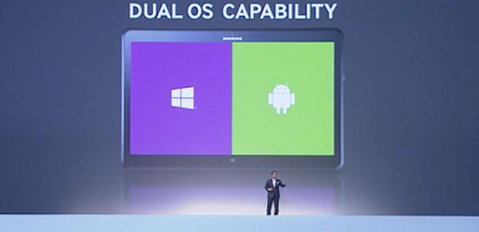 Tableta hibrida con Android y Windows Phone