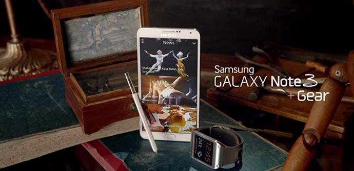 Spot Galaxy Note 3 y Galaxy Gear.