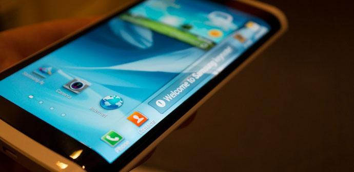 Samsung con pantalla flexible