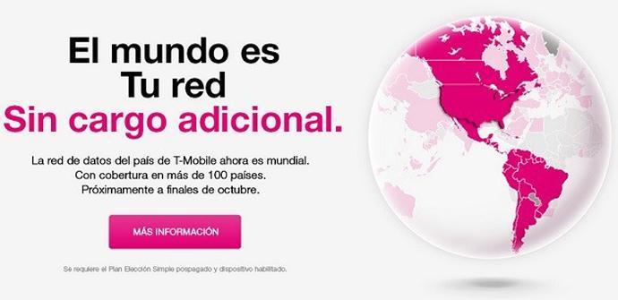 T-Mobile elimina el roaming en más de 100 países.
