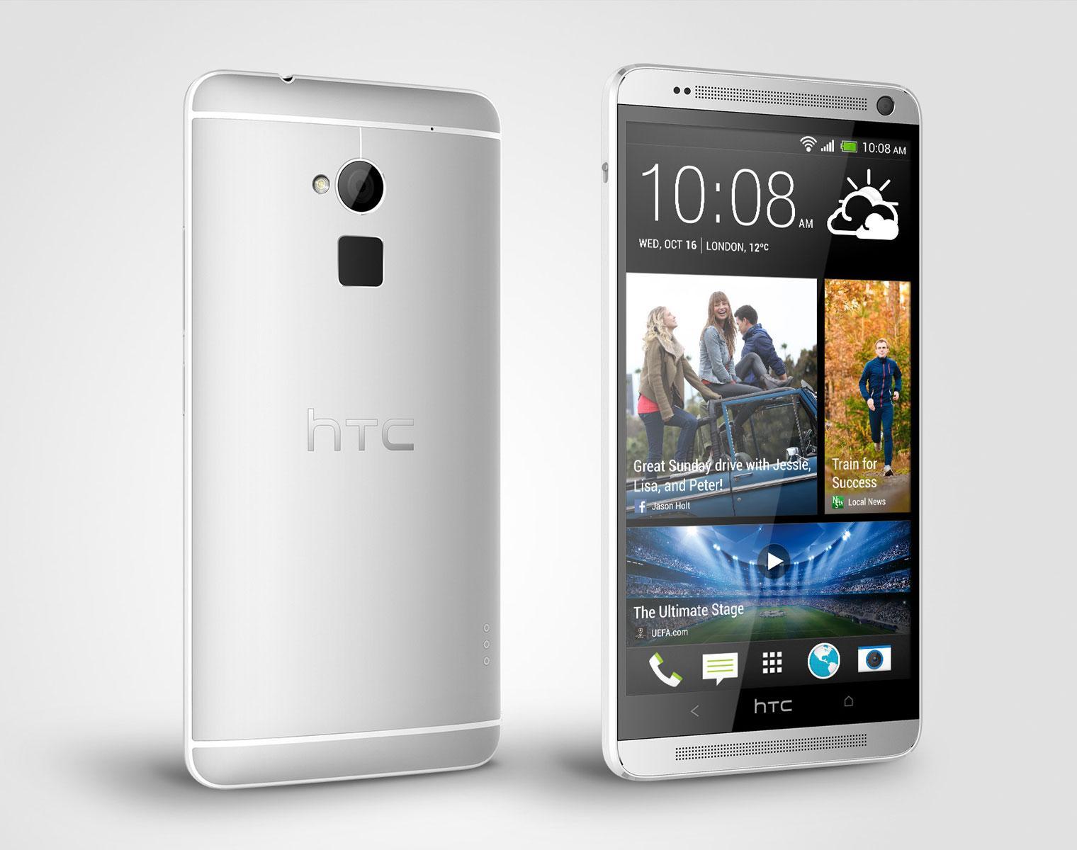 HTC One Max vista frontal y trasera