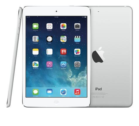 iPad Mini Retina vista frontal, lateral y trasera