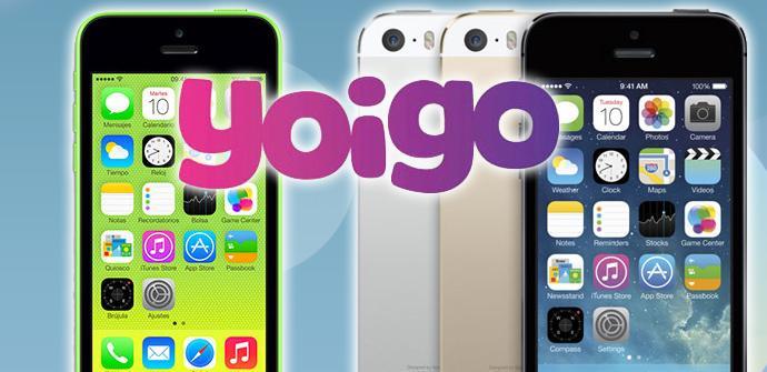 Precios del iPhone 5s y iPhone 5c con Yoigo.