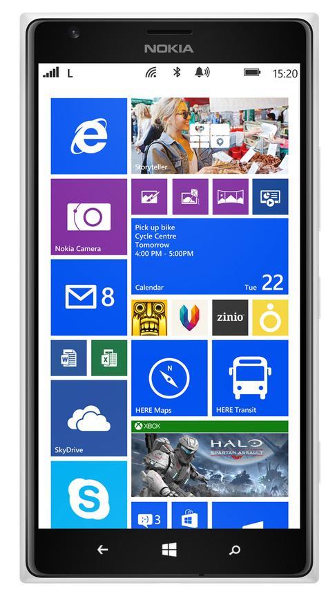 Nokia Lumia 1520 vista frontal
