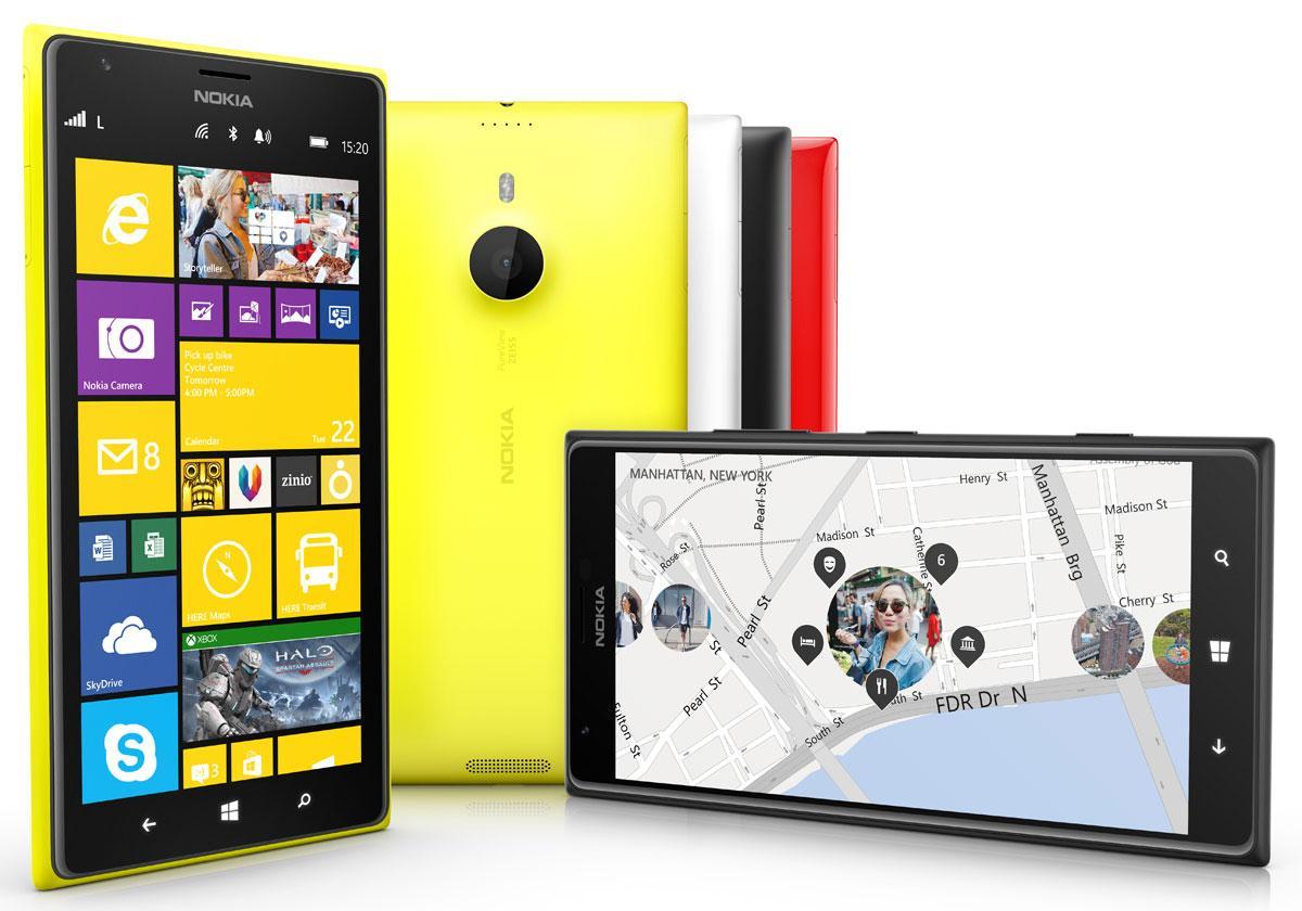 Nokia Lumia 1520 en diferentes colores