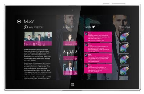 Nokia Lumia 2520 vista frontal