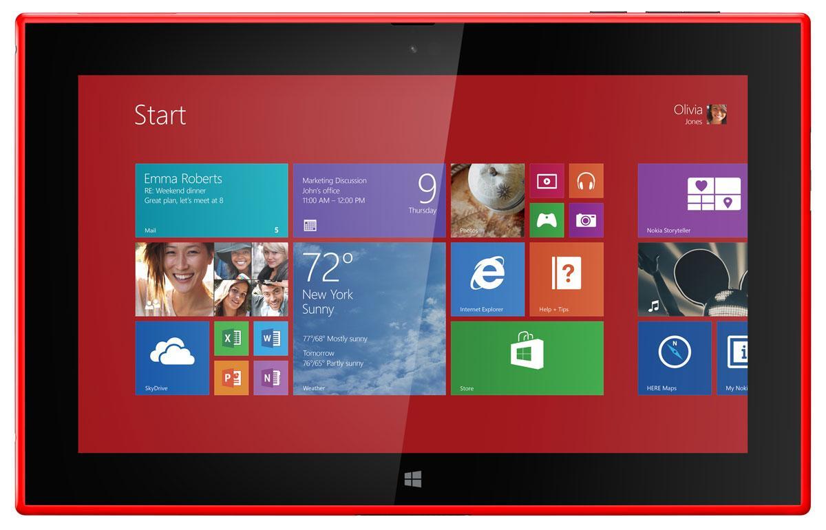 Nokia Lumia 2520 en color rojo