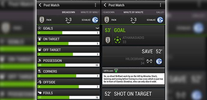 FootballFeed, la nueva aplicación de HTC para seguir la Champions.