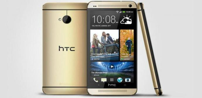 HTC One dorado.
