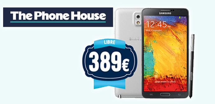 Consigue el Samsung Galaxy Note 3 por 389 euros libre.