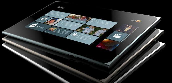 Imagen conceptual de un Nokia Lumia tablet