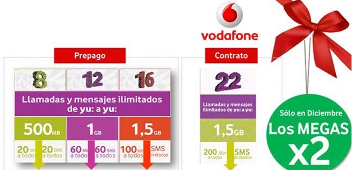 Promoción Navidad de Vodafone yu.