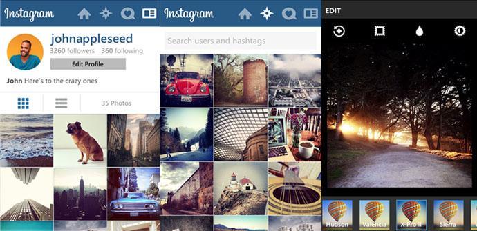 Instagram por fin llega a Windows Phone.