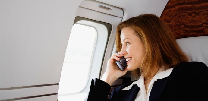 dispositivos moviles avion