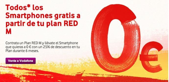 promocion vodafone smartphones Plan RED M
