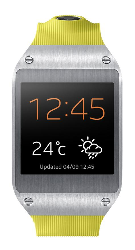 Samsung Galaxy Gear vista frontal