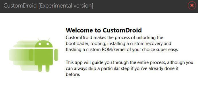 Herramienta para instalar ROM personalizadas