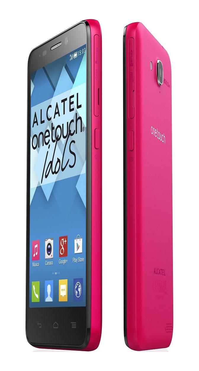 Alcatel Idol S en color rosa