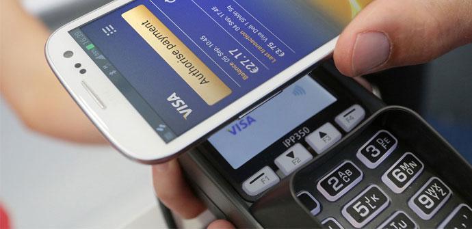 Pagos desde Samsung Galaxy con NFC