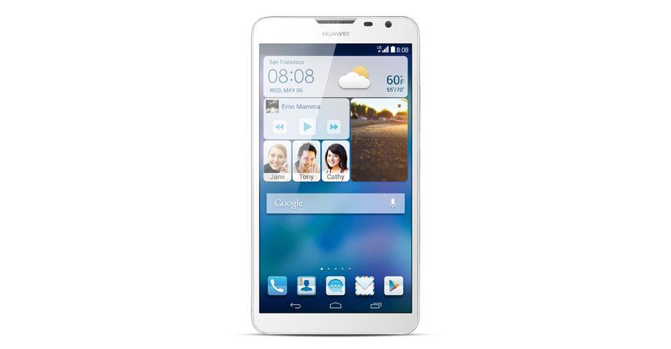 Huawei Ascend Mate 2 en blanco vista frontal
