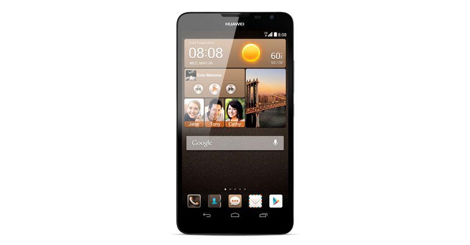 Huawei Ascend Mate 2 vista frontal en color negro