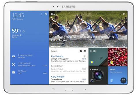 Samsung Galaxy TabPRO 10.1 vista frontal