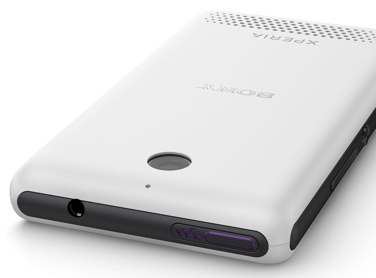 Sony Xperia E1 detalle de la cámara trasera