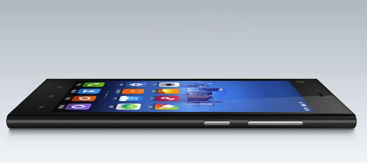 Xiaomi mi3 vista lateral en color negro