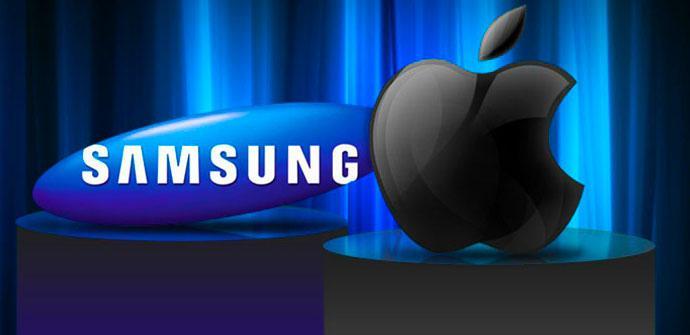 Logo de Samsung y Apple