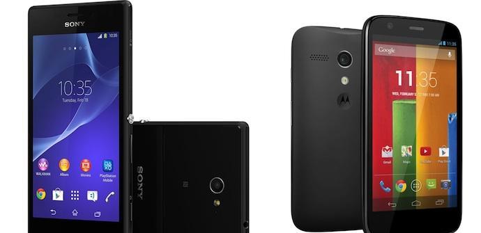 Sony Xperia M2 vs Motorola Moto G